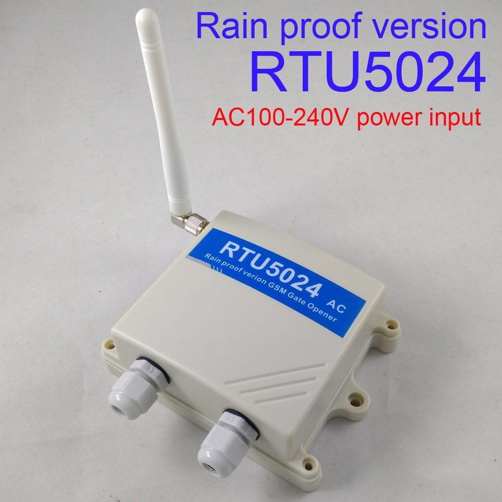 Rain Proof Automatic GSM Gate Opener Switch Remote Access Control Roller Gate Opener Home Water Pump Motor Rolling Door RTU5024