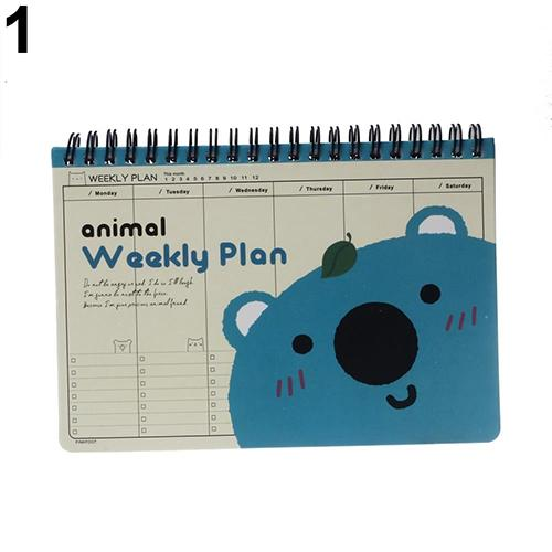 Fashion Cartoon Panda Bear Duck Print Cute Diary Weekly Planner Agenda Notepad Notebook худи print bar panda santa