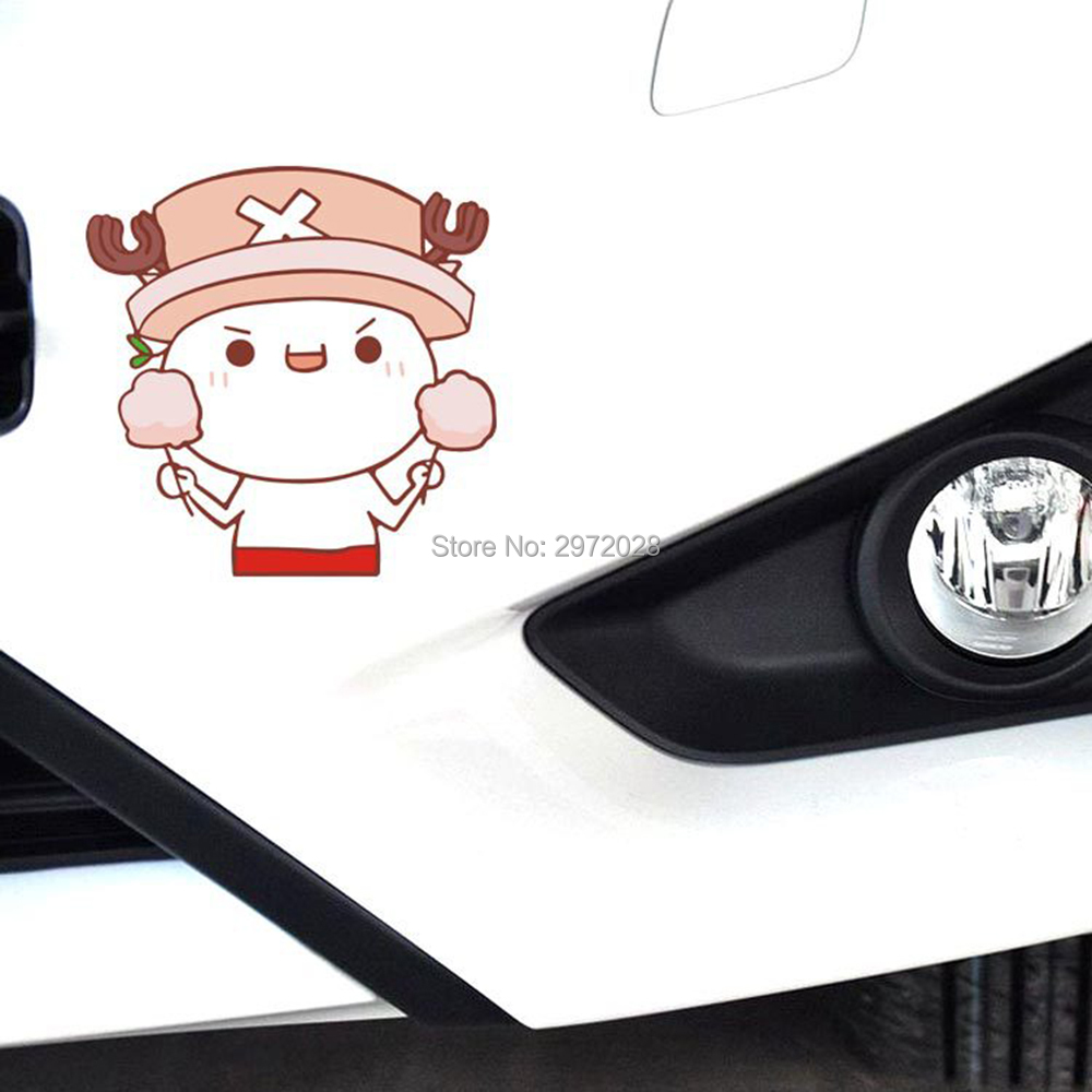 10 X Funny Car Styling Covers Car Stickers One Piece Tonny Chopper Lollipop Decals For Chevrolet Vw Hyundai Peugeot Skoda Mazda