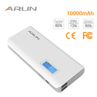 ARUN High speed Power Bank 10000 mAh Dual USB Outputs Portable Charger External Battery For iPhone Pover Bank Xiaomi PoverBank