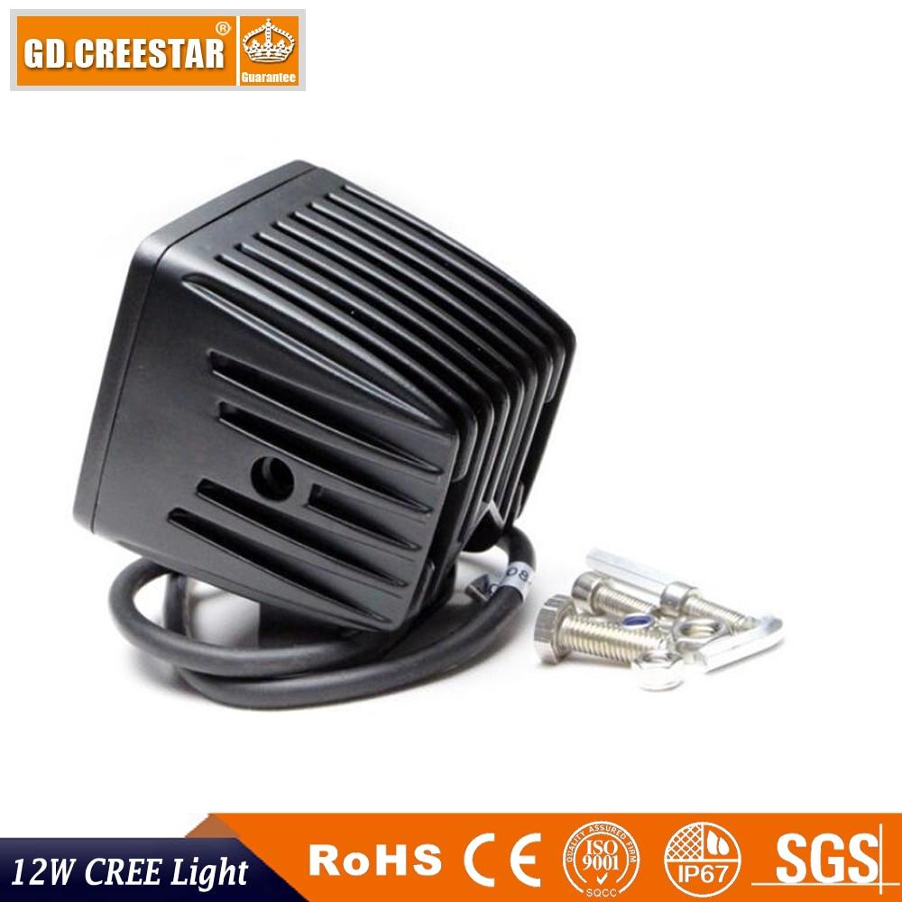 12Watts 3innch kvadratne LED radne svjetiljke 12V IP67 vodootporne - Svjetla automobila - Foto 5