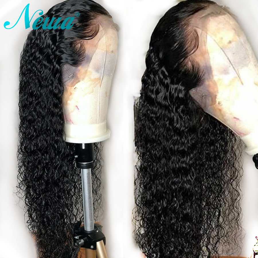 NYUWA Curly Lace Front Human Hair Wigs Pre Plucked With Baby Hair Brazilian Lace Front Wig