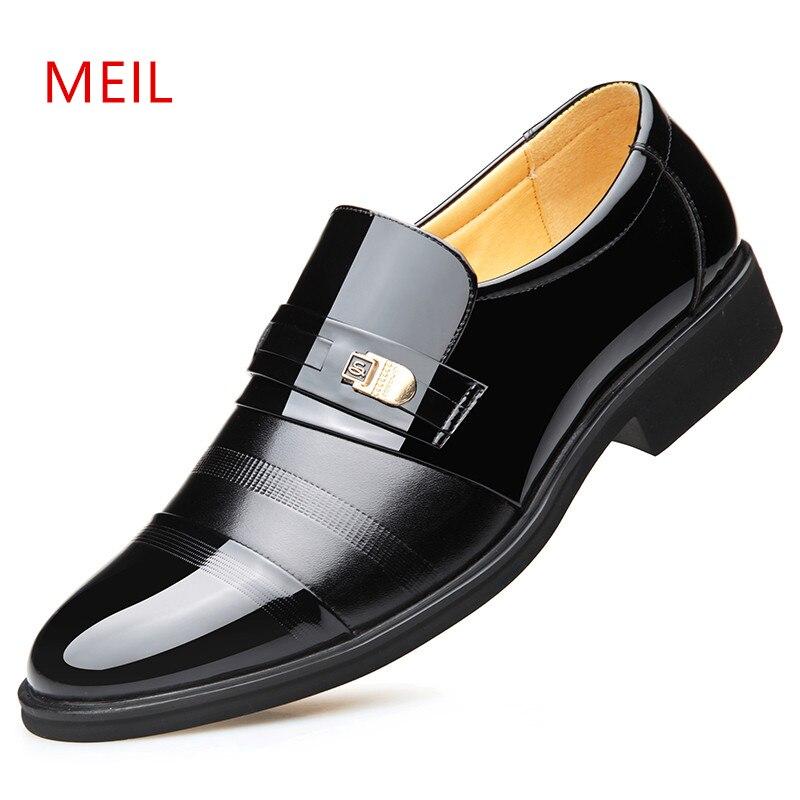 Height Increasing 6CM Elevator Office Shoes Men Oxfords Elegant Men Formal Dress Shoes Leather loafers 2019 Bridegroom Shoes