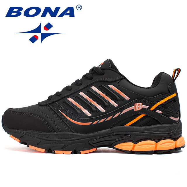 BONA New Hot Style Women Running Shoes Outdoor Activities Sport Shoes Lace Up Popular Sneakers Comfortable Athletic Shoes Ladies