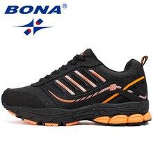 BONA החדש חם סגנון נשים נעלי ריצה חיצוני פעילויות ספורט נעלי תחרה עד פופולרי סניקרס נוח גבירותיי