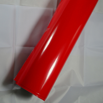 Glossy car wrap film car roof wrap car roof vinyl wrap with Air Bubble 1.52x30m/roll Red