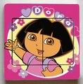 5 Pcs/Lot Dora the Explorer Switch Stickers,Cute Dora the Explorer Wall Stickers,Children Room Decor Light Switch stickers