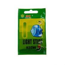 250 Sticks (1 Boxes)4.5X37MM Fishing Float Glow Stick Luminous Night Sticks Wand Green Chemical Fluorescent Lighting Stick Pesca