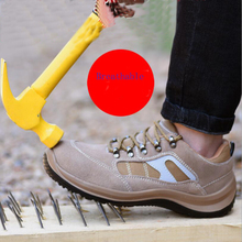 Breathable Puncture Resistant Non-slip Abrasion Resistant Oil Resistant Acid And Alkali Resistant Men Safety Work Shoes