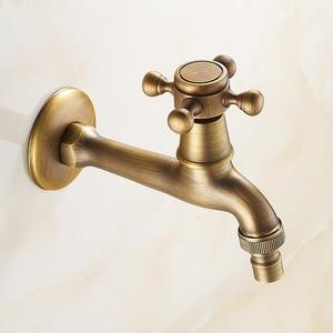 Image 3 - Robinet de jardin extérieur bobine en céramique, robinet plein cuivre dans le mur Machine à laver, Torneira accessoires de salle de bains
