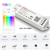 LTECH Mini 2.4G Wireless WiFi-101-RGBW led controller OS Android APP WiFi RGBW DC12-24V For rgbw led strip light lamp