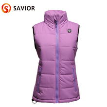 hot deal buy savior women battery heated vest fishing hunting riding winter use health care back&breast heating area smart control female new