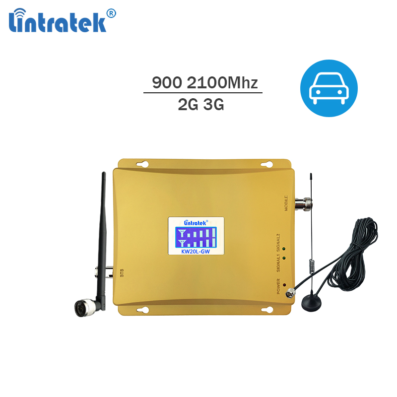 Lintratek Repeater 2G 3G Car Signal Booster 900 2100Mhz Car Signal Repeater GSM 900Mhz Booster 3G 2100Mhz Car Cellphone Ampli @7Lintratek Repeater 2G 3G Car Signal Booster 900 2100Mhz Car Signal Repeater GSM 900Mhz Booster 3G 2100Mhz Car Cellphone Ampli @7
