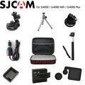 SJCAM Acessórios EVA Coleta Box + Monopé + Tripé + Tampa Da Lente + Tripé + carregador Para SJ4000/SJ4000 WIFI/SJ4000 Câmera MAIS