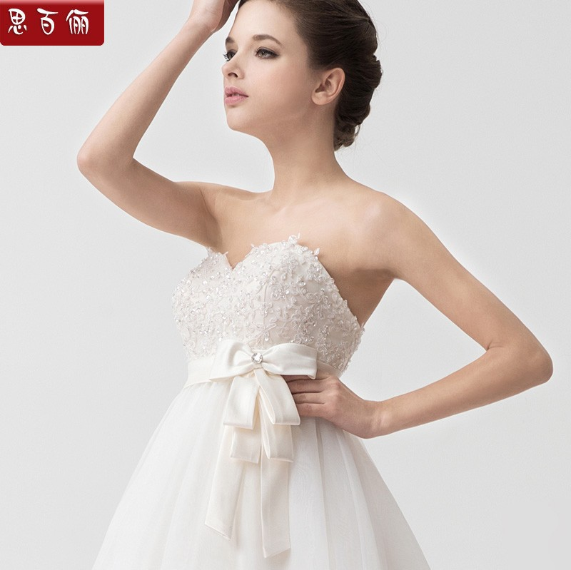 1920 Style Vintage Bandage Ivory Empire Train A line Lace Wedding ...