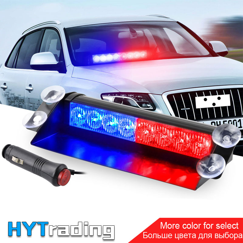 цена на 8 LED for Car Dash Strobe Flash Lights Blue/Red Emergency Police Flash Lights Warning Lamp LED Light
