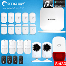 Etiger WiFi /GSM Newest Alarm Aystem with 2x Indoor IP Camera and Android/IOS App