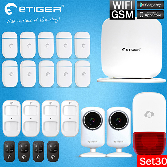 Newest Etiger WIFI Box Detector Sensor Wireless Security Alarm System For Safety IOS Android APP Control Easy Installation