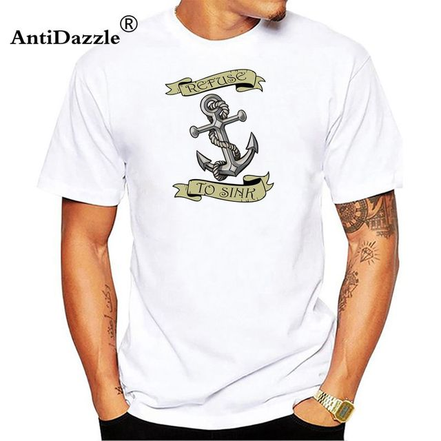 3151d07a SAILOR JERRY Tattoo My Work Speaks Anchor Logo Slim Fit T-Shirt S M L XL  XXL NEW men's t-shirt cotton top tees