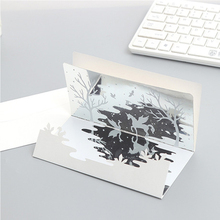 3PCS 3D Cartoon Animals Thank you cards Happy birthday mothers day gifts Wedding invitation Greeting With Envelopes
