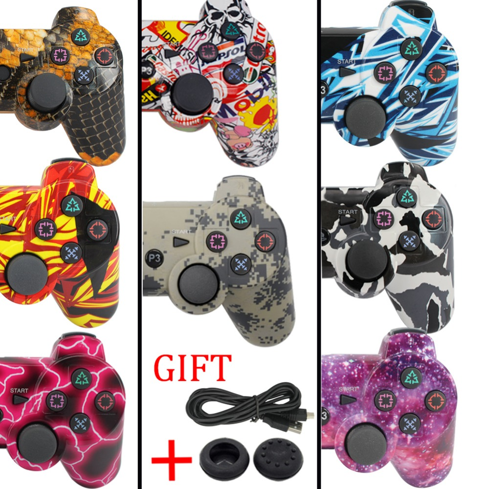blueloong gamepad for SONY PS3 Controller Wireless Bluetooth Joysticks for DUALSHOCK 3 SIXAXIS for PlayStation 3 Game Controller 3cleader® wireless controller for ps3 playstation 3 camouflage 1
