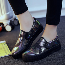 2016 New Fashion Flat font b Women b font Loafers Shoes A Pedal Lazy Sequins Flat