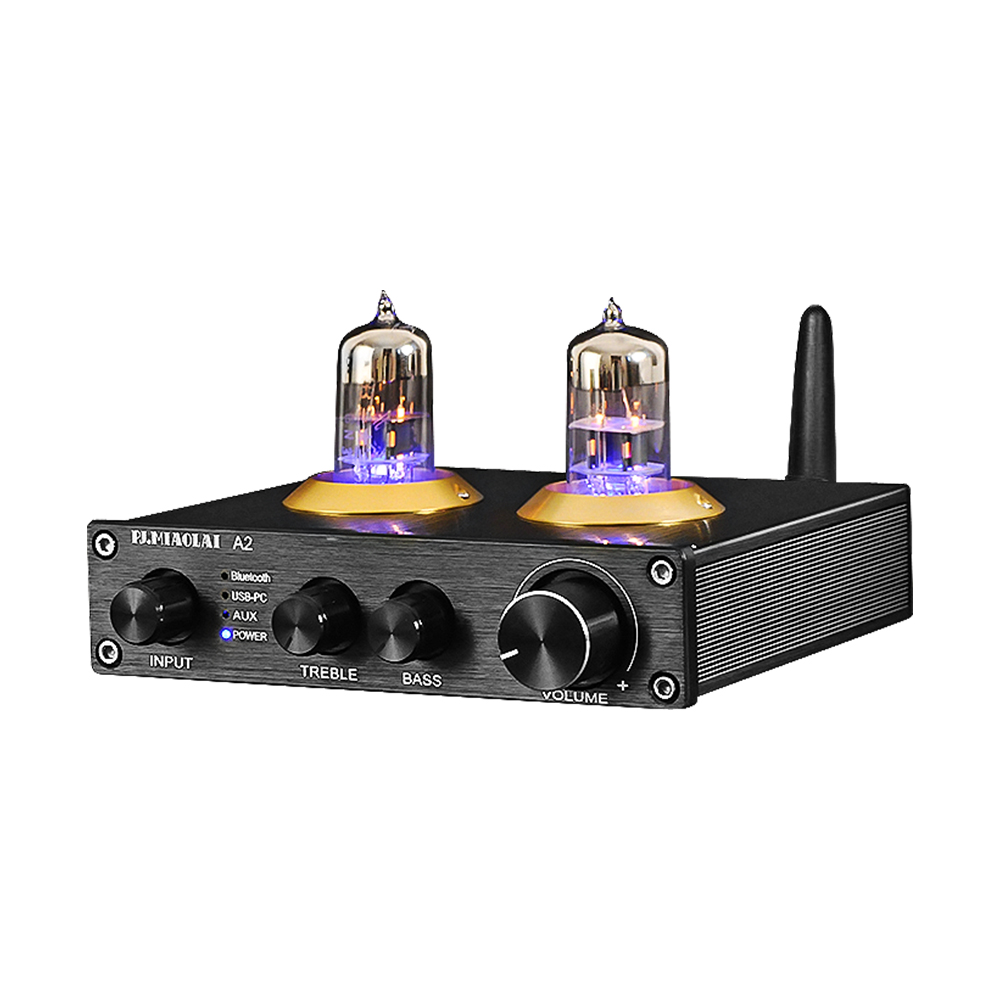 Mini Amplificador Hifi Stereo Audio Bluetooth 5.0 <font><b>Pre</b></font> <font><b>Amplifier</b></font> Tube Preamplifier USB 6N3 Bile Tube Preamp DIY Home Theater Amp image