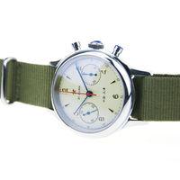 Mens Pilot Watch Aviator Seagull 1963 Sapphire Glass Mechanical Chronograph 5