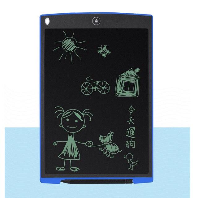 12 인치 LCD 쓰기 태블릿 디지털 드로잉 태블릿 필기 패드 휴대용 전자 태블릿 보드 초박형 부기 보드