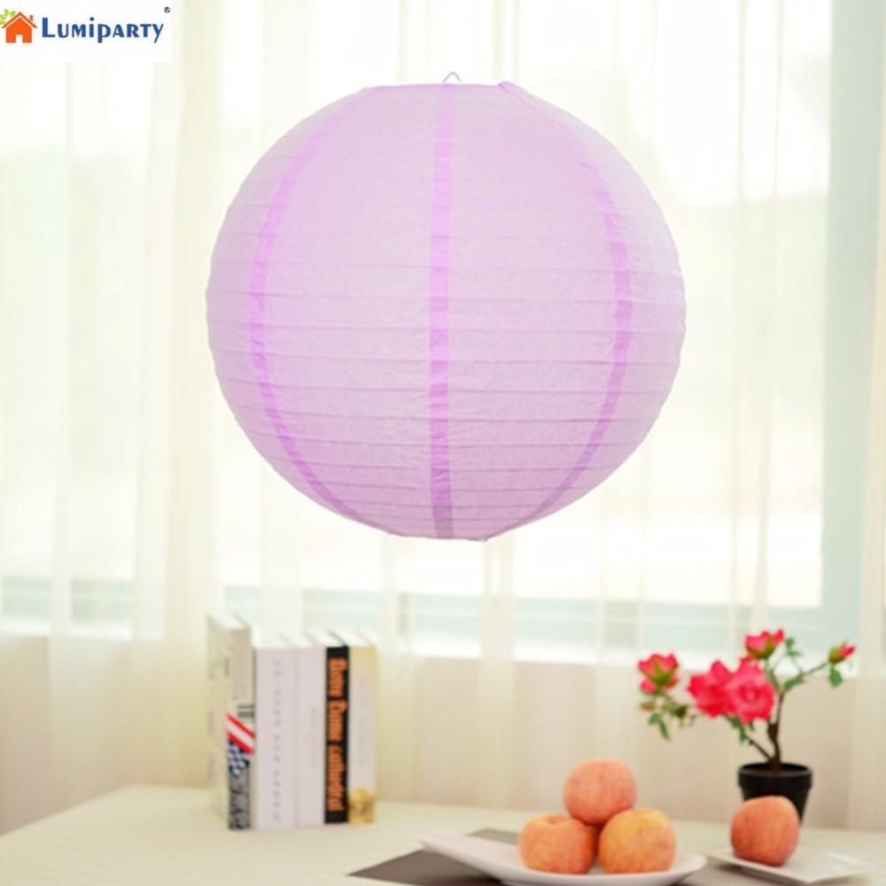 LumiParty 20 inch/50cm Diameter Round Paper Lanterns Lamp Birthday ...