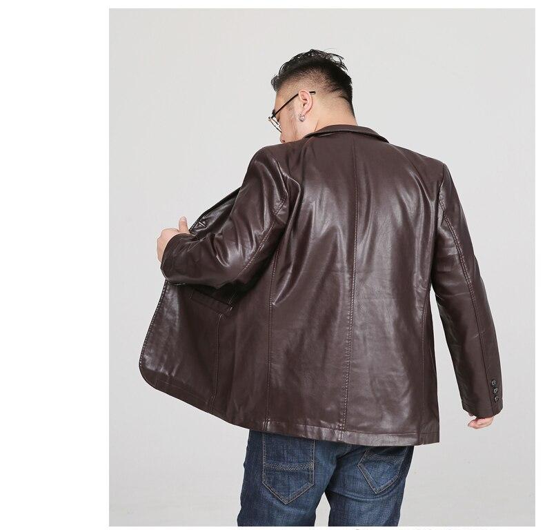 Image 3 - LONMMY 6XL 7XL 8XL кожаный пиджак мужской блейзер мужские куртки и пальто смокинг костюмы мужская верхняя одежда 2019 jaqueta хаки черный-in Пальто из искусственной кожи from Мужская одежда on AliExpress