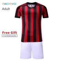 Onedoyee Customize 17 18 Men S Professional Football Suits Sets Short Sleeve Youth Training Football Uniform
