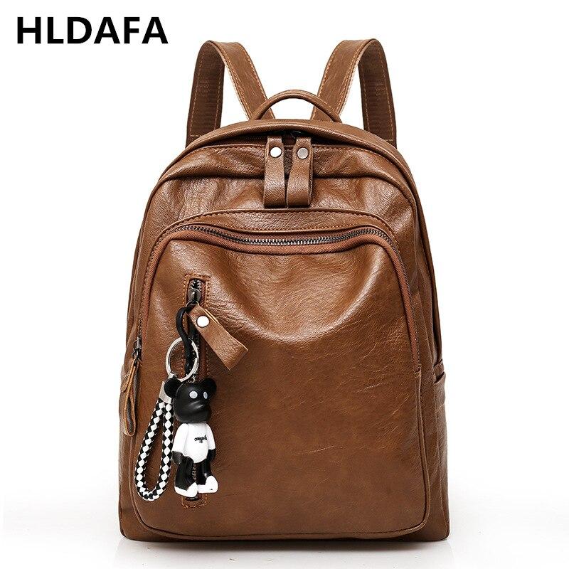 Woman New High Quality Leather Backpack Travel Fashion Female Backpack String Bags Large Capacity School Bag Mochila Feminina