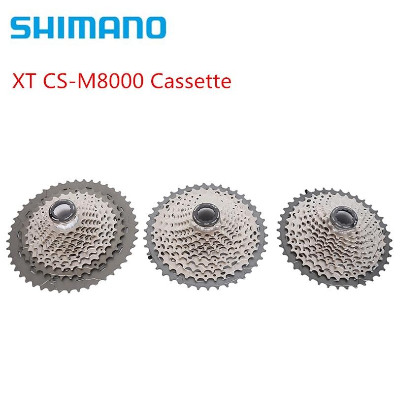 Shimano DEORE XT CS-M8000 M8000 11 S MTB da bicicleta da bicicleta da roda livre Cassete cassete Mountain bike velocidade 11-40 11 T 11-42 T 11-46 T