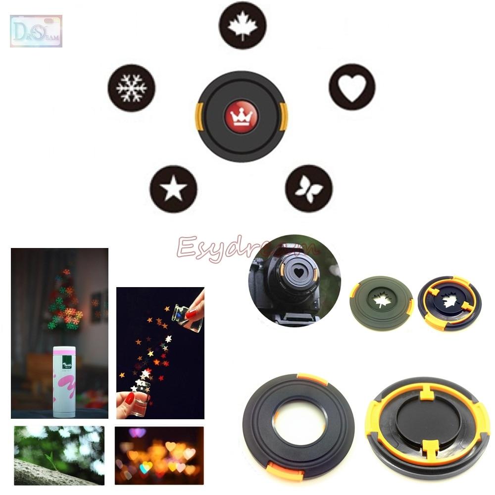 Bokeh Masters Kit Bokeh Effect Lens Cap Cover Filter for Artistic Romantic Night Scene Photography Canon