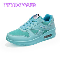 YTracyGold Air Cushion Flats Shoes Women Casual Shoes Eye Print Trainers Basket Femme Outdoor Ladies Sneakers