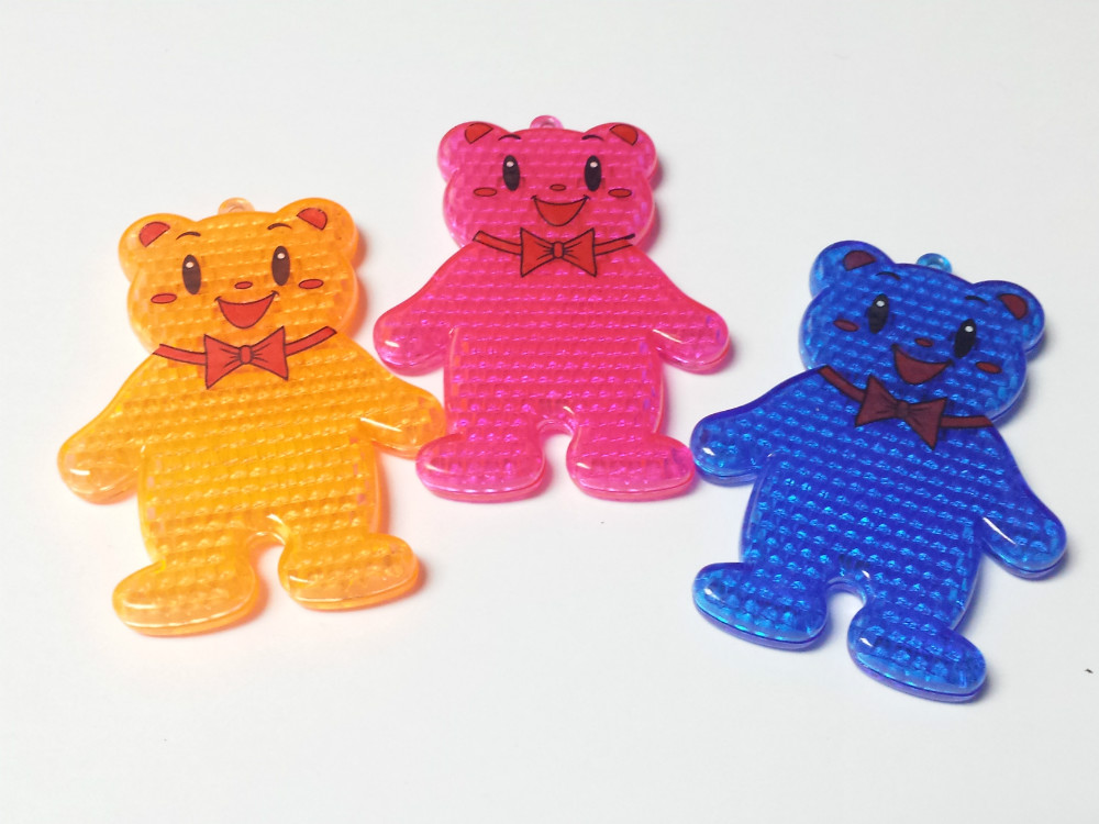 6 Pc Cute Plastic Teddy Bear Reflectors 609 Ideal Use On Coats Bags Pedestrian Pinata Bag Filler Loot Birthday Party Favors Gift