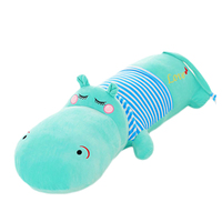 Pink Hippo Stuffed Animal Plush Toys Pillow Large Stuffed Animals Brinquedo Cute Cushions Baby Knuffel Dolls For Girls 60G0652