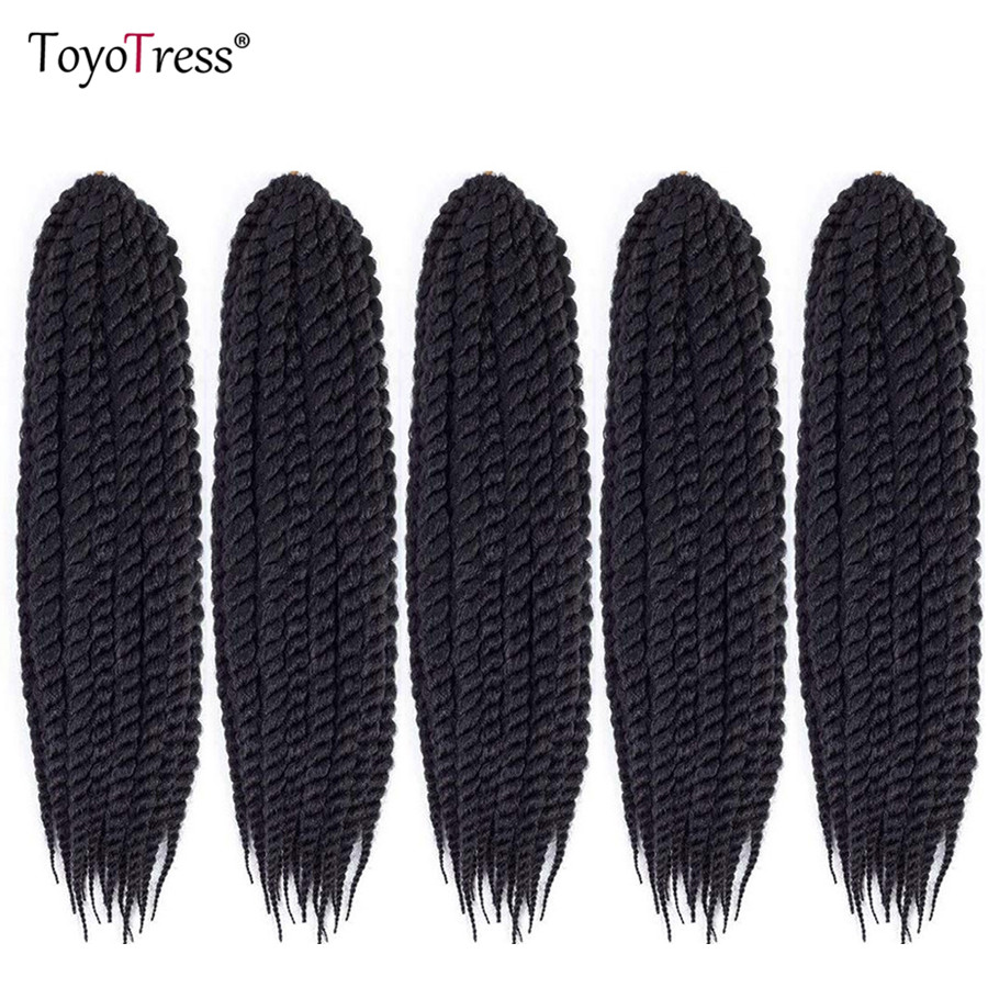 Havana Twist Crochet Braiding Hair 12strands/pack Synthetic Hair Weave Senegalese Twist 6packs Full Head Toyotress Braid Hair(China)