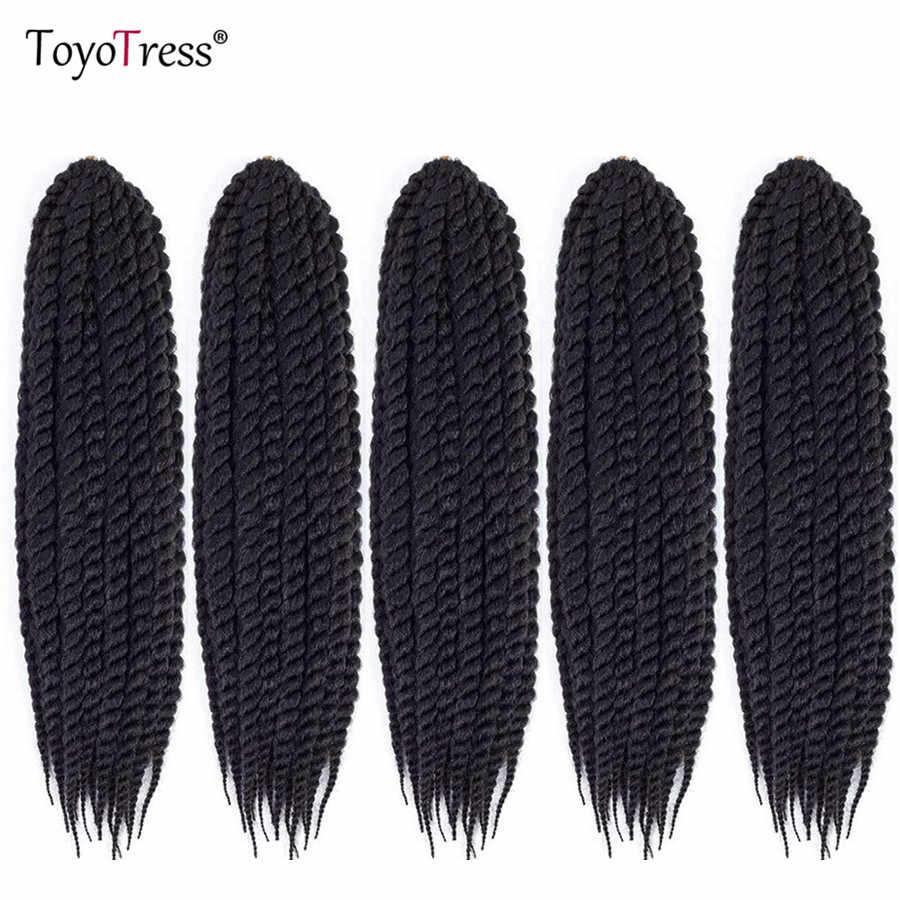 Гаванские кудри вязание крючком плетение волос 12 шт./пакет завивка искусственных волос Сенегальские накрученные волосы 6 упаковок для наращивания на всю голову Toyotress, огромные косички из волос