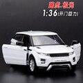 1:36 Масштаб Литья Под Давлением Металлического Сплава Модели Автомобиля Для Range Rover Evoque Коллекционная Модель Вытяните Назад Автомобиль Игрушки