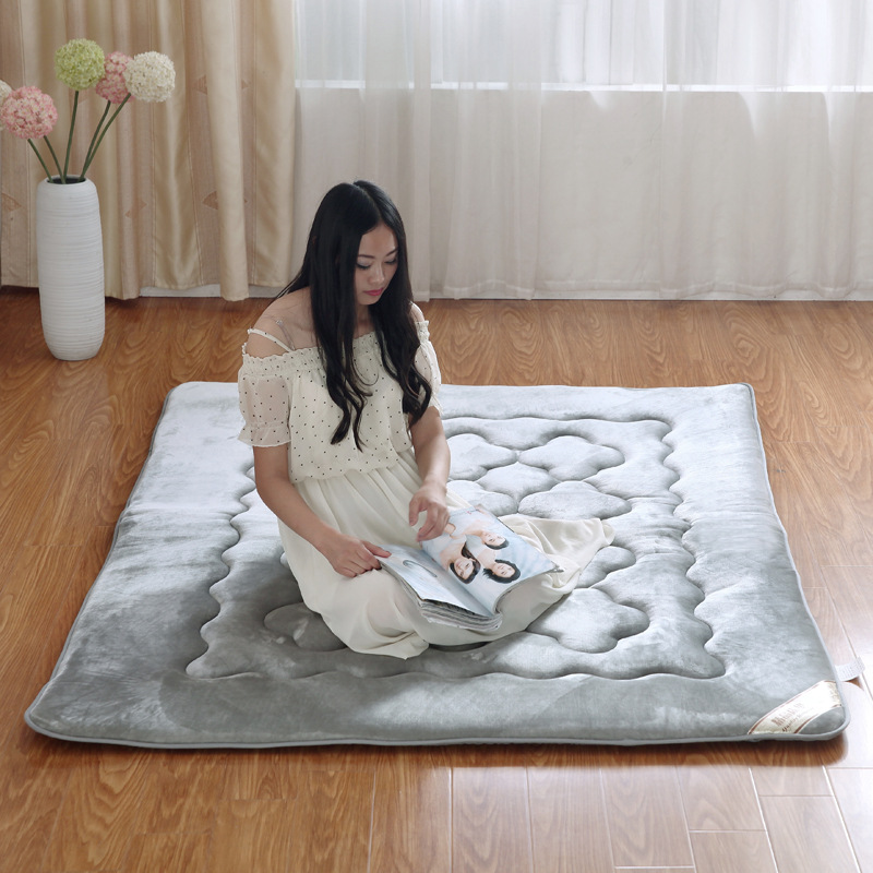 Solid Mattress Thick Warm Foldable Single Or Double Mattress Fashion NEW Topper Quilted Bed zhh warm soft fleece strip blankets double layer thick plush throw on sofa bed plane plaids solid bedspreads home textile 1pc