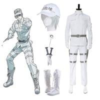 High Q Unisex Anime Cos Hataraku Saibou Cells At Work Cosplay Costumes White Blood Cell WBC Leukocyte Hakkekkyuu Costumes