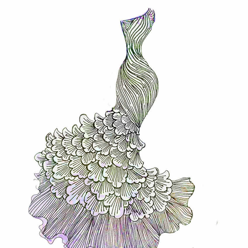 PANFELOU ทะเลเจ้าหญิงงานแต่งงานชุดโลหะหัตถกรรมกระดาษตายตัด dies Scrapbooking/DIY ลายนูนวันวาเลนไทน์การ์ด