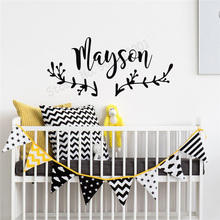 Art  Wall Sticker Personalized Name Design Decoration Vinyl Home Decor Nursery Boho Poster Beauty Kid Ornament LY195