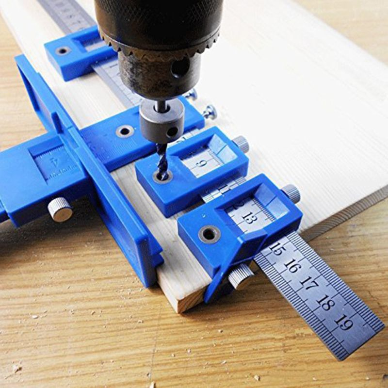 Multi-function Drill Punch Locator Furniture Woodworking Drill Guide Drilling Dowelling Hole Saw Adjustable