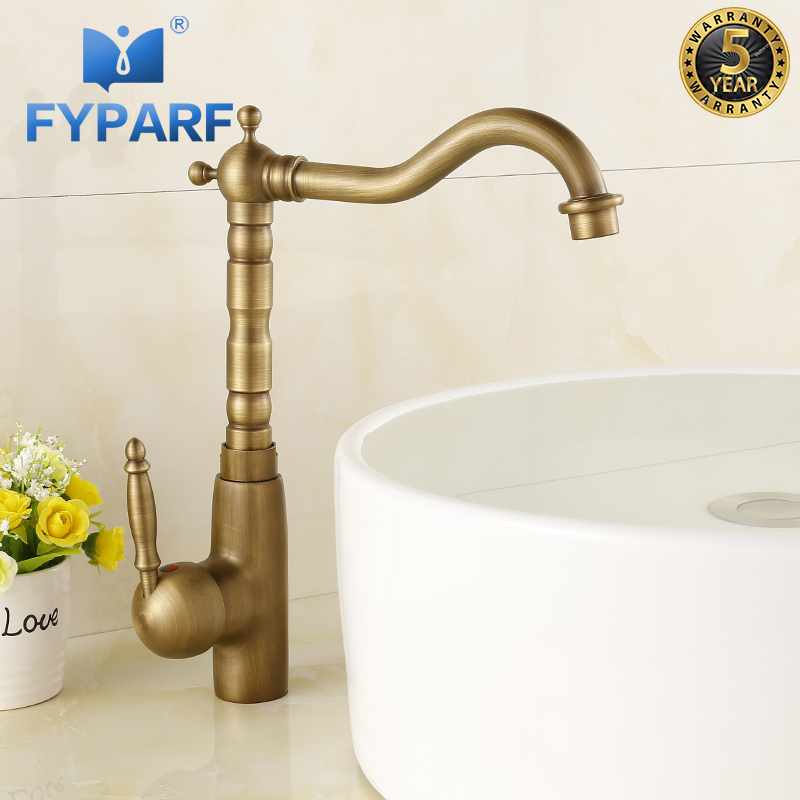 Basin Faucet for Bathroom Sink Faucet Antique Faucet for Sink Cold Hot Water Tap Mixer Taps and Faucets for Bathroom and Kitchen