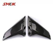 SMOK Motorrad Carbon Fiber Gas Tank Seite Tank Seite Verkleidungen Air Intake Abdeckung Für Yamaha MT-09 MT 09 MT09 FZ-09 FZ09 2017 2018(China)