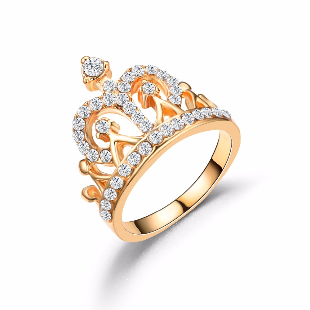 2017 Hot Sale 14KGP New Design Ring Crown Party Rings
