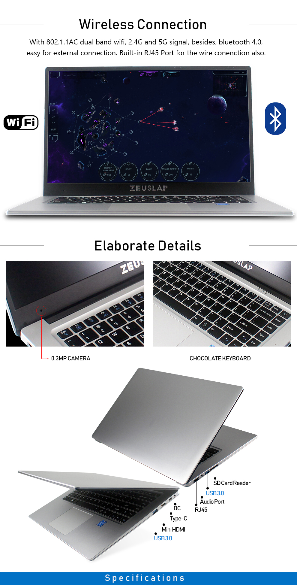 ZEUSLAP New 15.6inch 6GB Ram Dual Disks 1920*1080P IPS Screen Windows 10 System Fast Boot Cheap Netbook Laptop Notebook Computer 13
